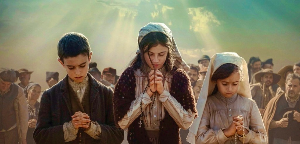 Lucia and the Children of the Fatima Miracle praying