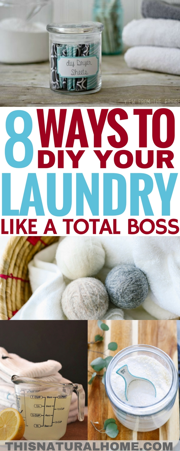 Did you even know you could DIY your laundry supplies? These laundry DIYs are the perfect start to get the chemicals out of the laundry room!