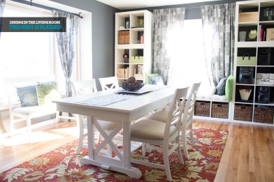 Living Room to Dining Room _ This Nest Is Blessed