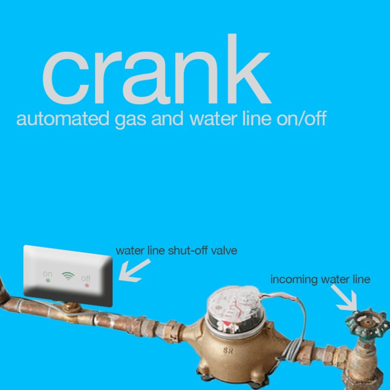 CRANK Water Line and Gas Line Automated On Off Valve