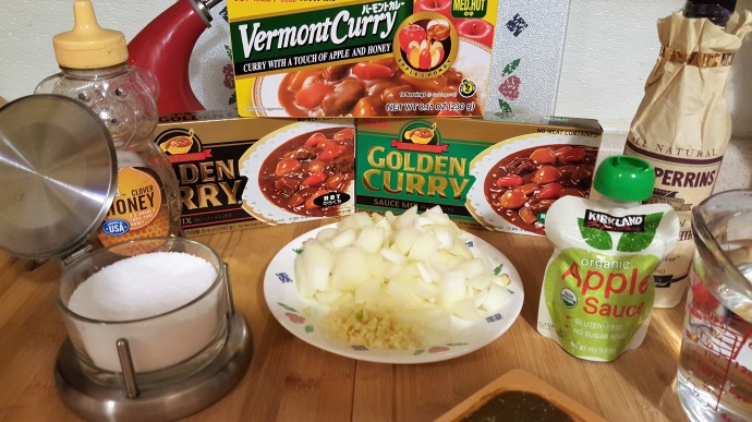 Cast of Ingredients for Pressure Cooker Japanese Beef Curry Stew