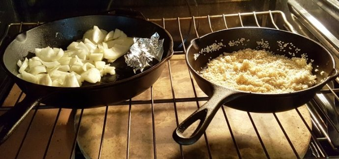 Place both Skillets into the Oven