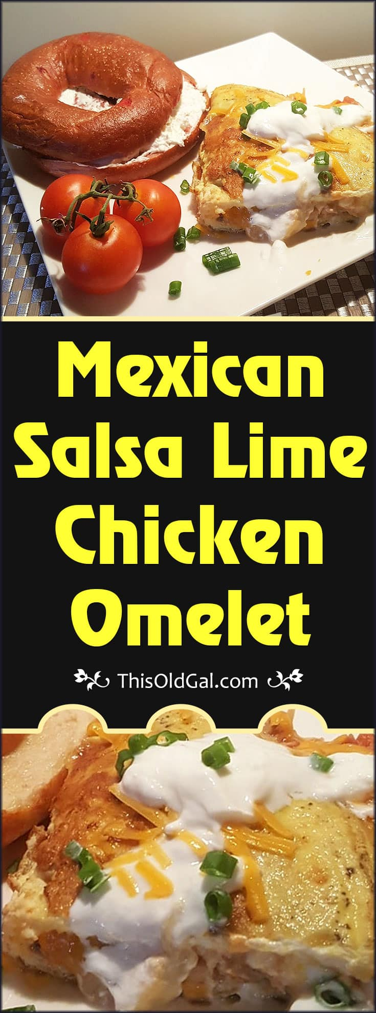 Mexican Salsa Lime Chicken Omelet Recipe