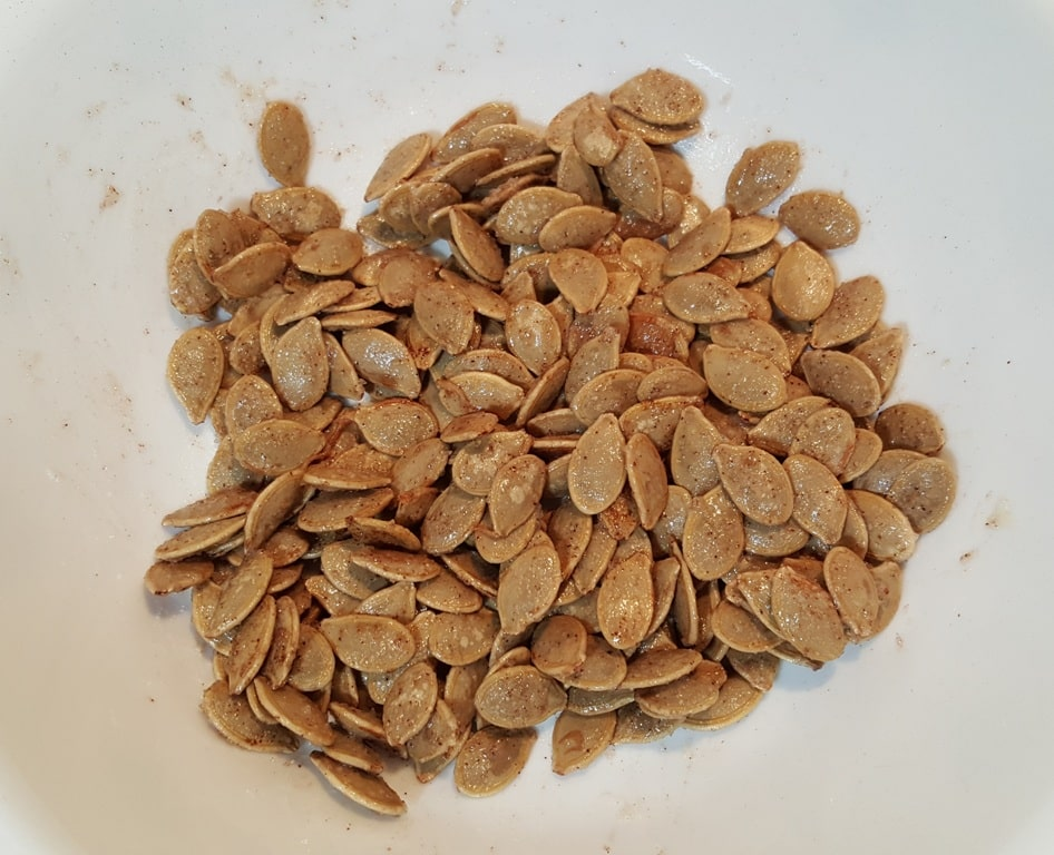 Coat all the Seeds with Oil and Seasoning