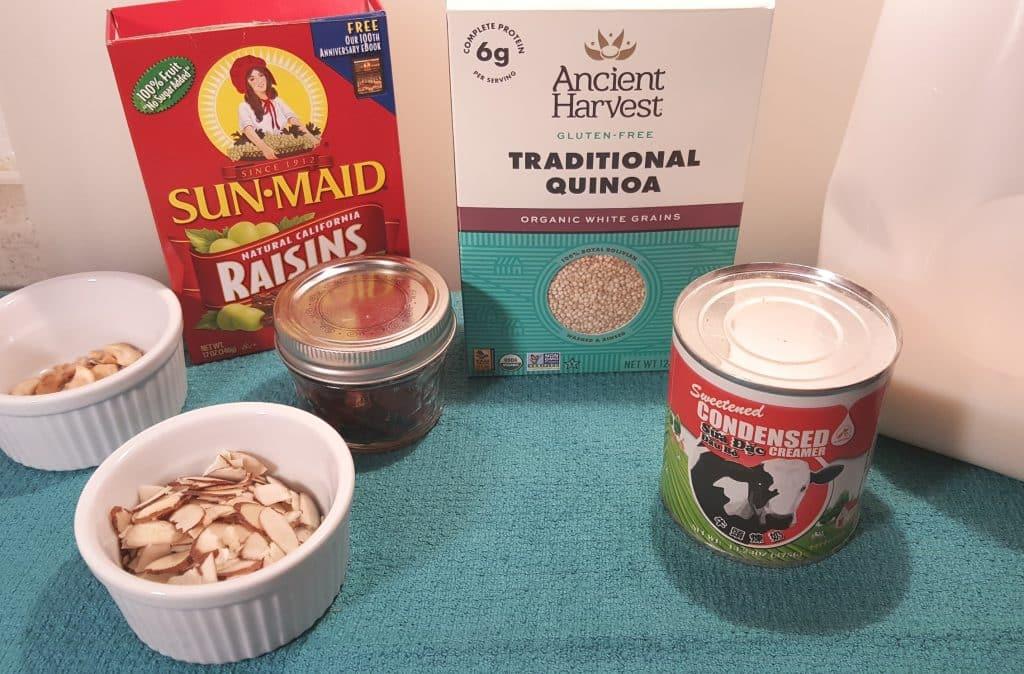 Cast of Ingredients for Pressure Cooker Quinoa Kheer {Indian Quinoa Pudding}