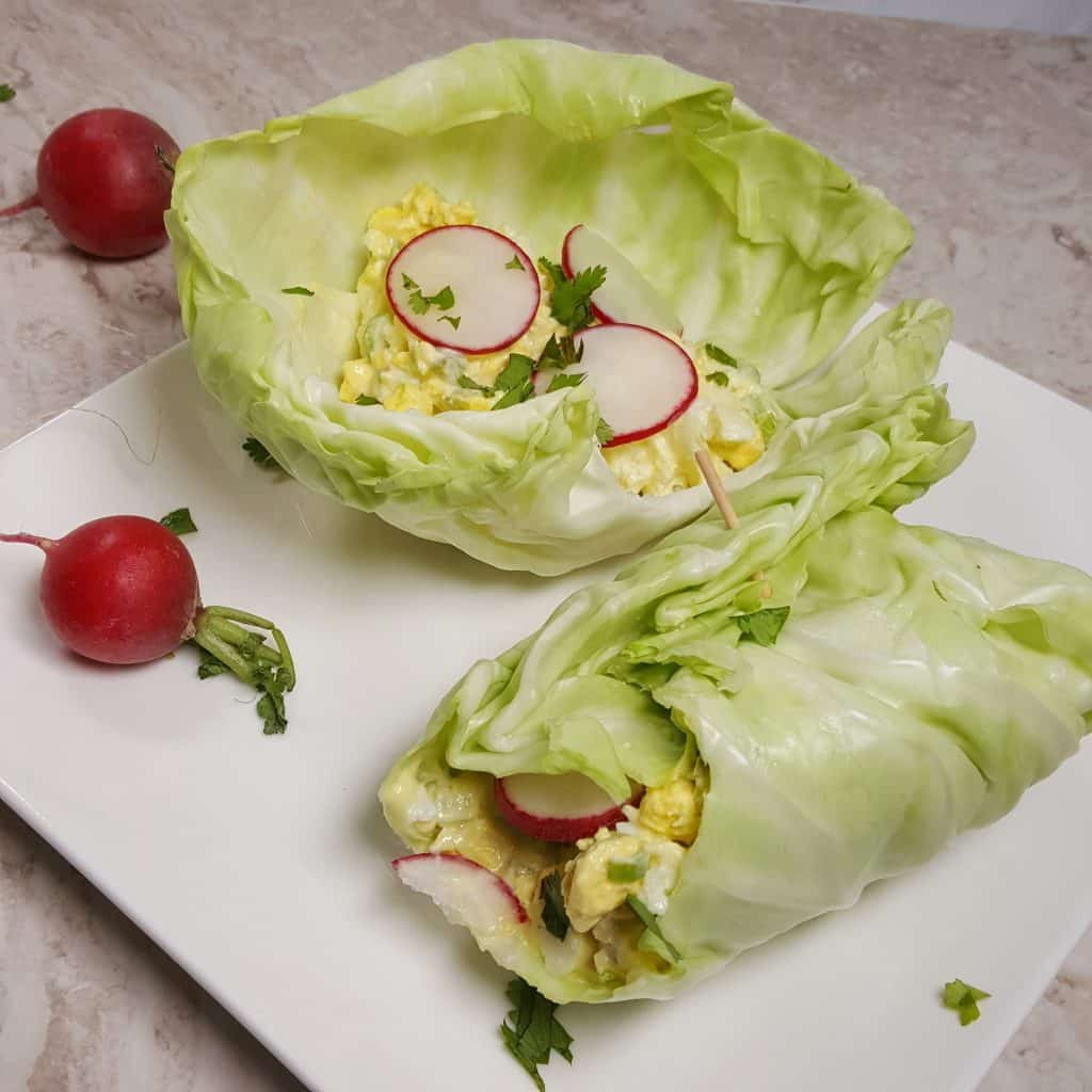 Instant Pot Low Carb Deviled Egg Salad Roll Ups