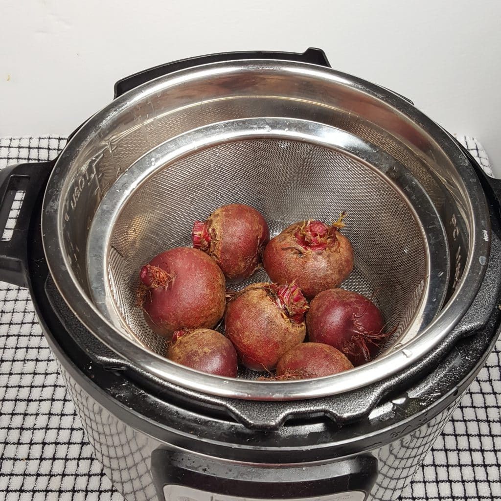 Add Water and the Beets to Pressure Cooker