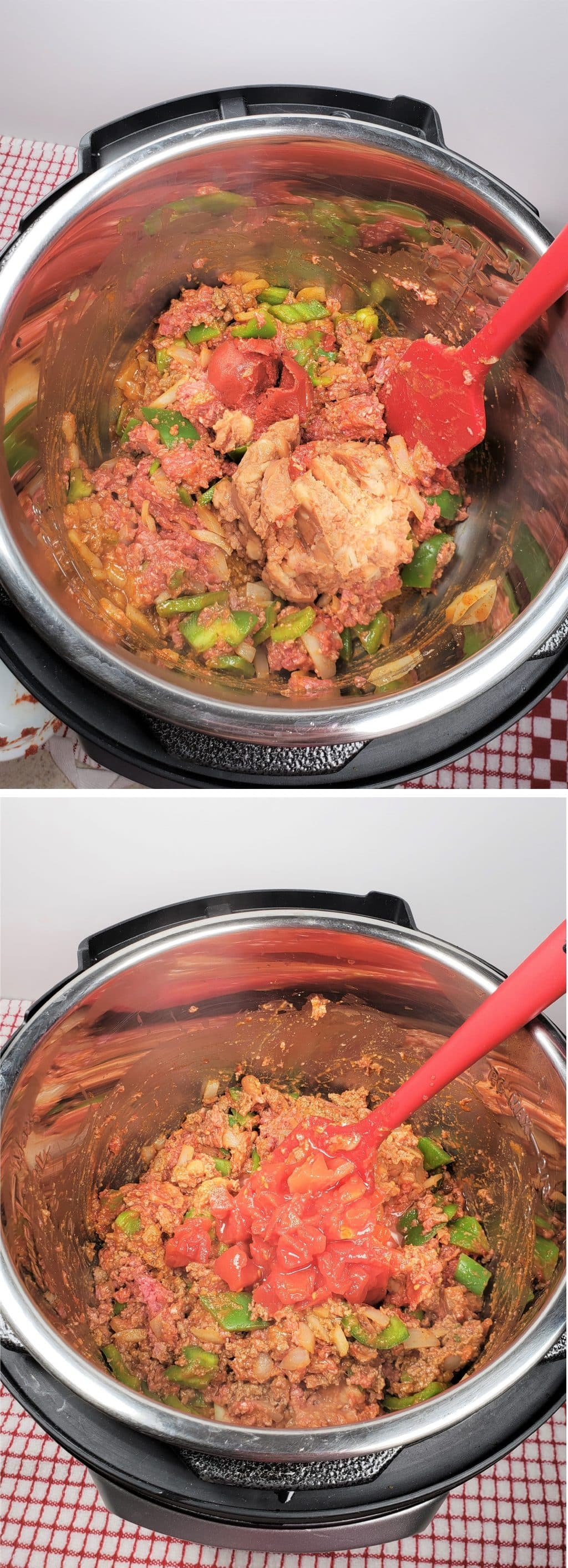 Mix in Frijoles (Refried Beans)