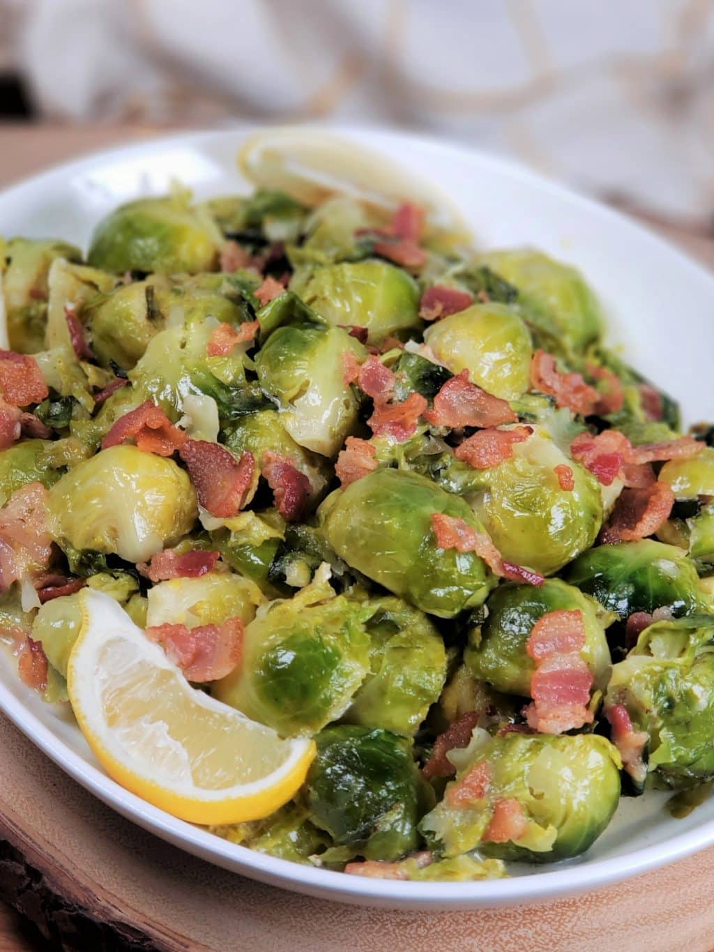 Low Carb Brussels Sprouts Alfredo