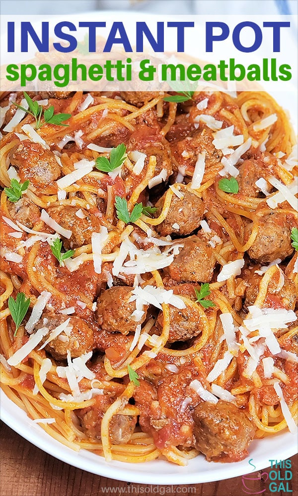 Instant Pot Spaghetti and Meatballs [Pressure Cooker]