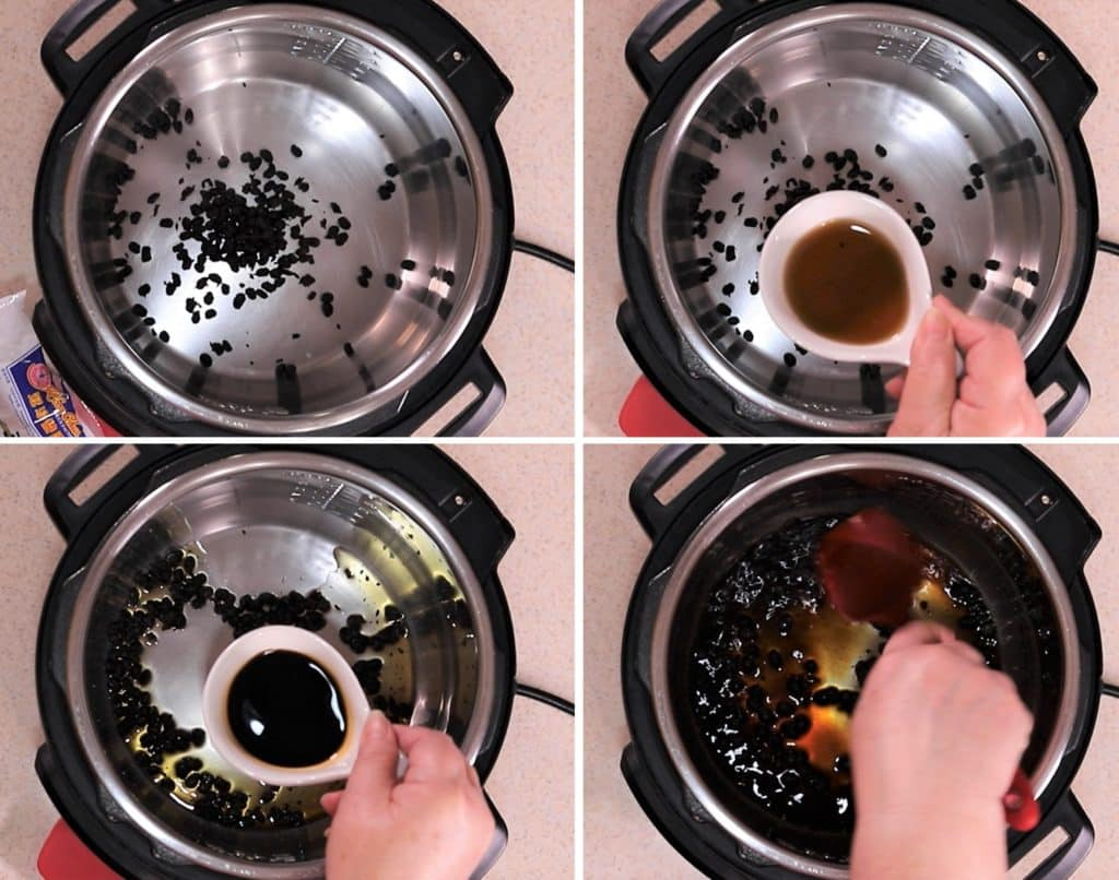 Soften Up the Douchi (Fermented Black Beans)