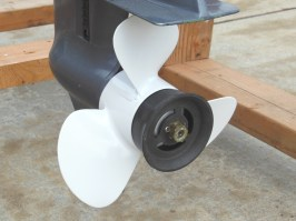 Refinished aluminum propeller