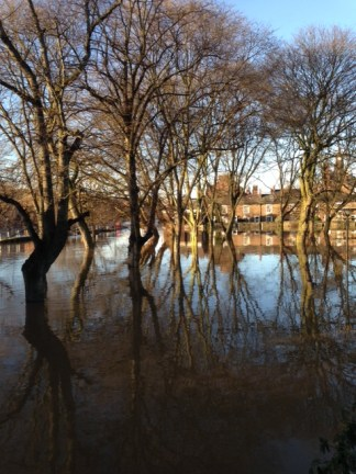 The flooded Ouse
