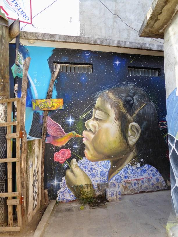 Beautiful wall art in San Pedro