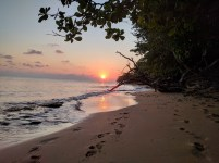 Sunset on our private beach