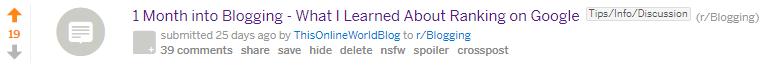 Reddit for Blogging Post