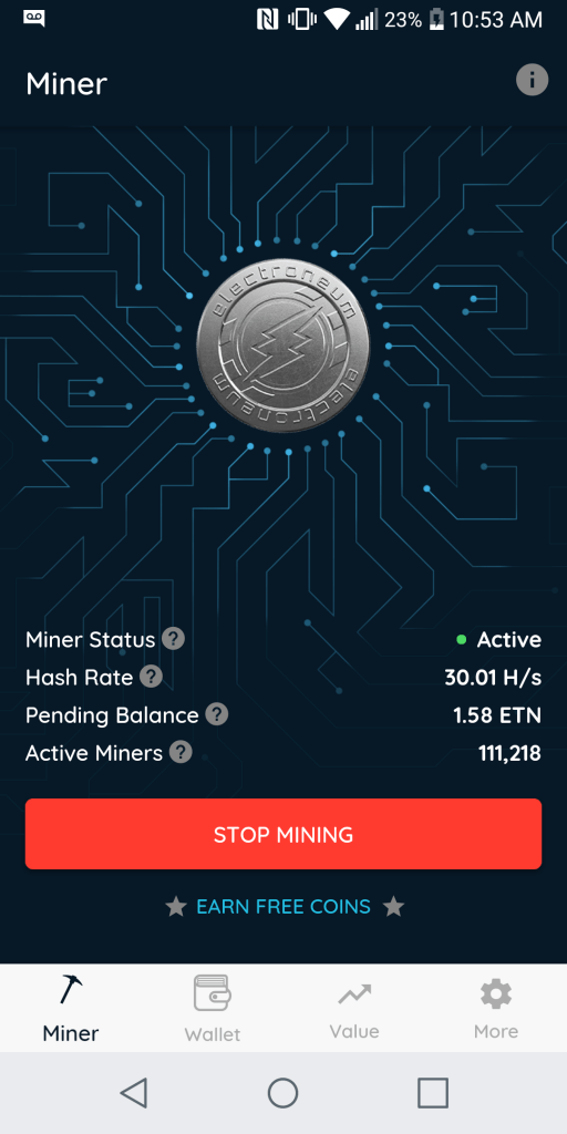 Electroneum miner review