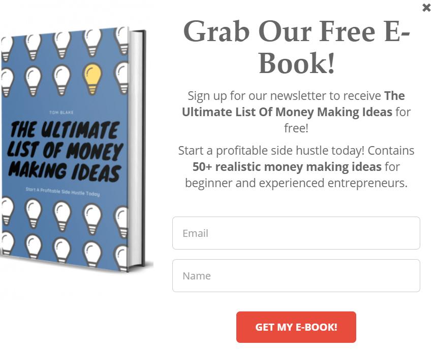 E-book popup