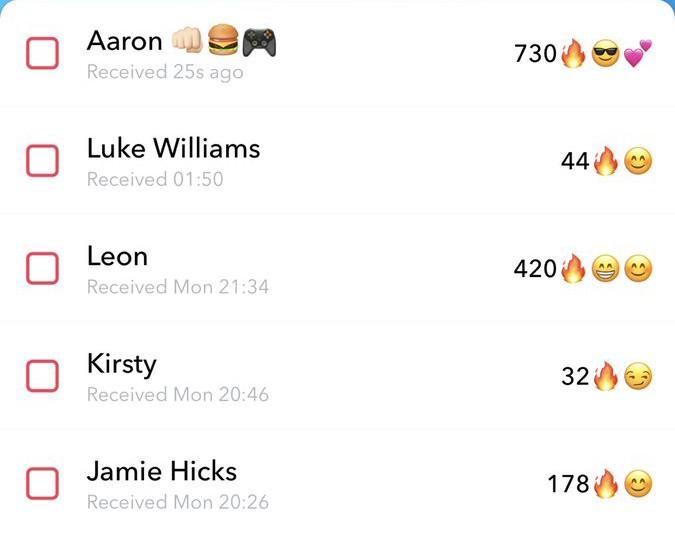 Snapchat-streaks