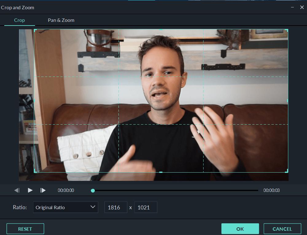 Wondershare-Filmore-crop-zoom-tool