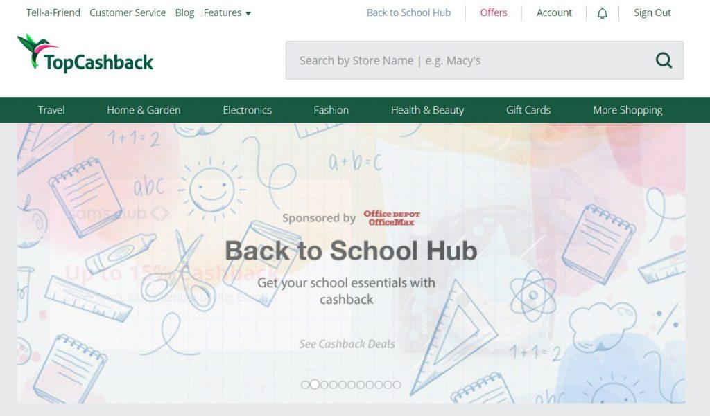 TopCashback-website