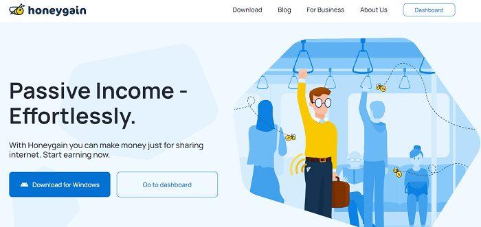 Honeygain-website