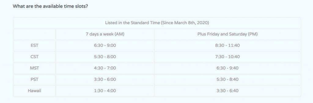 Qkids-schedule