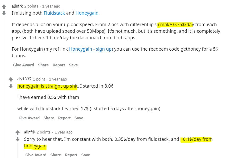 Reddit-Honeygain-reviews