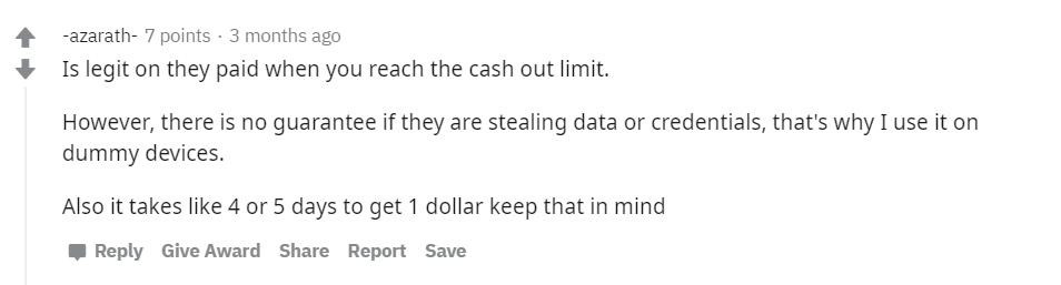 Reddit-Honeygain