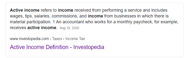 Active-income-definition