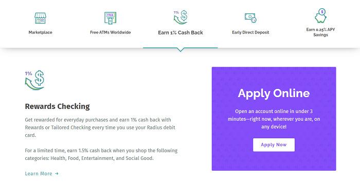 Radius-bank-account