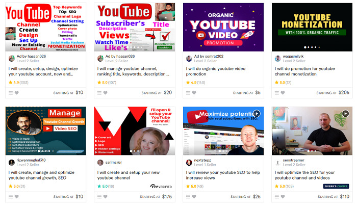 Fiverr-YouTube-gigs