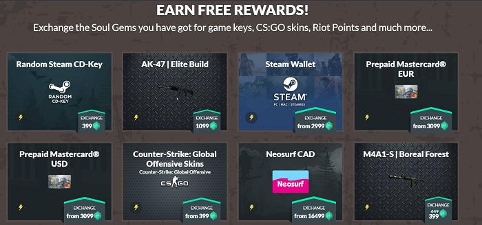 Gamehag-rewards
