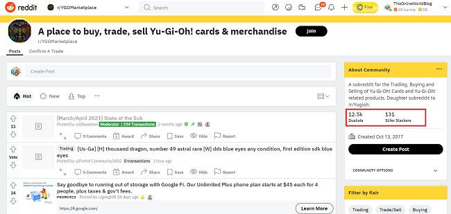 YGOMarketplace-Reddit