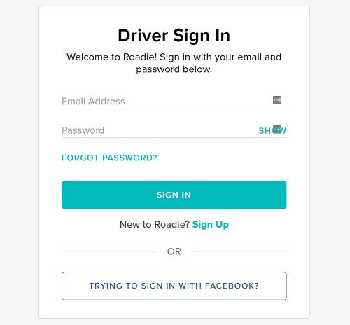 Roadie-driver-signup