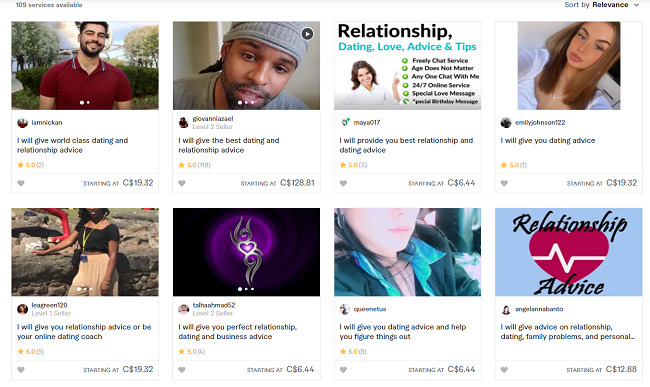 Fiverr-dating-advice