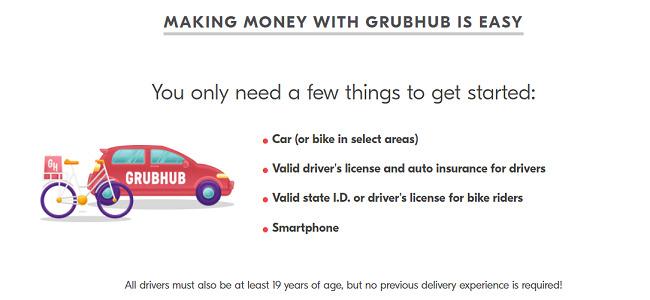 Grubhub-driver-requirements