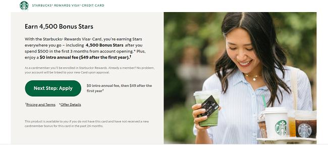 Starbucks-reward-visa-free-stars