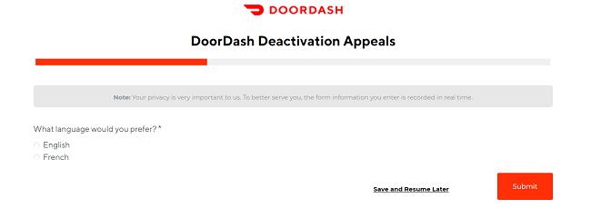 DoorDash-deactivation-appeal