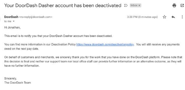 DoorDash-deactivation-email