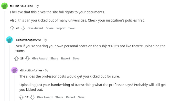 sell-college-notes-Reddit