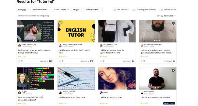 Fiverr-online-tutor