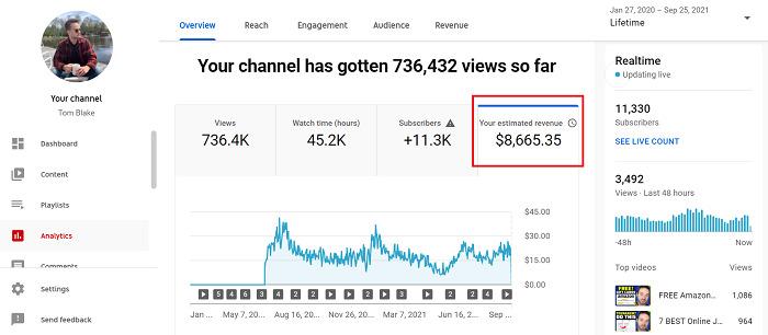 Lifetime-YouTube-revenue