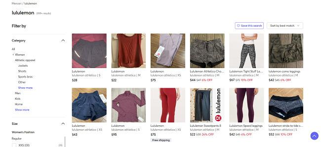 Mercari-activewear