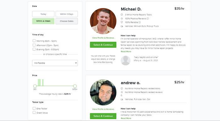 TaskRabbit-listings