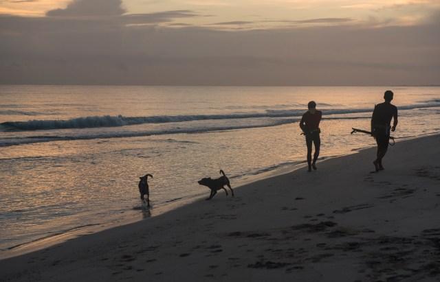 Rising early, Santa Maria beach, Cuba