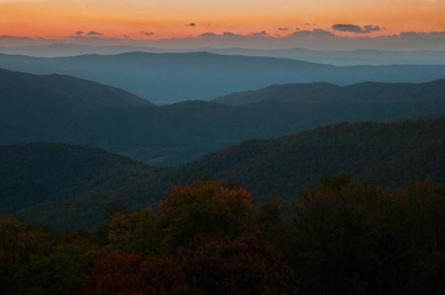 Last light over the mountains Shenandoah Valley, Virgina