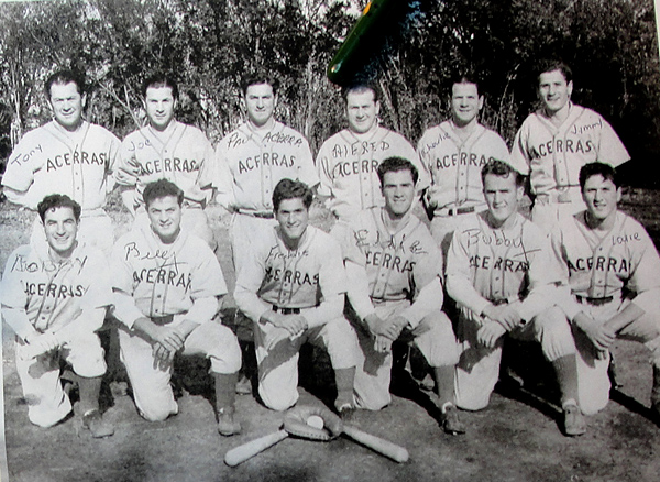 photo of Acerra brothers' baseball team (about 1950) New Jersey