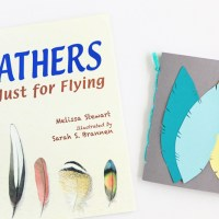 feathers: not just for flying + handmade book craft from avery and augustine