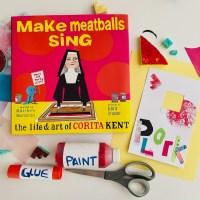"make meatballs sing + ""plork"" away craft!"